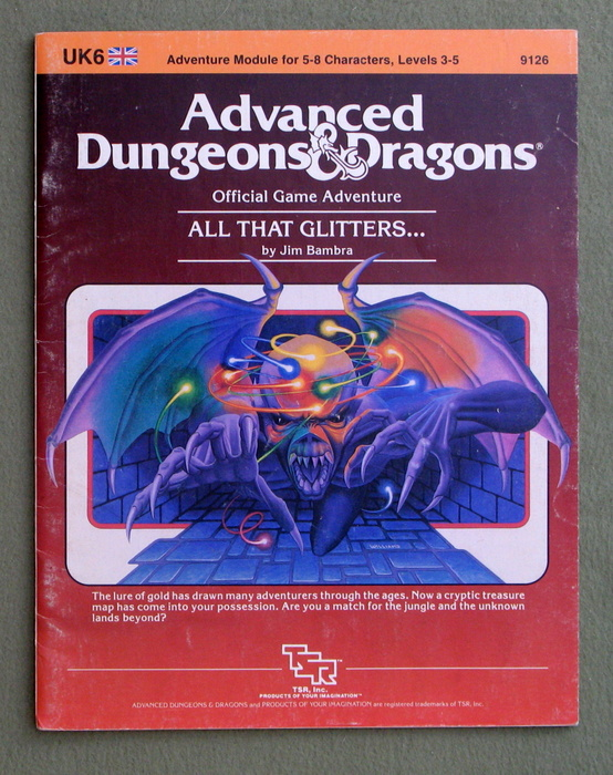 Image for All That Glitters (Advanced Dungeons & Dragons Module UK6)