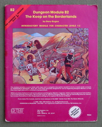 Image for The Keep on the Borderlands (Dungeons & Dragons Module B2) - PLAY COPY