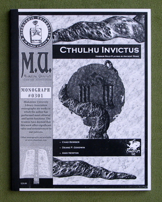 Image for Cthulhu Invictus: Horror Roleplaying in Ancient Rome (Call of Cthulhu Monograph #0301)
