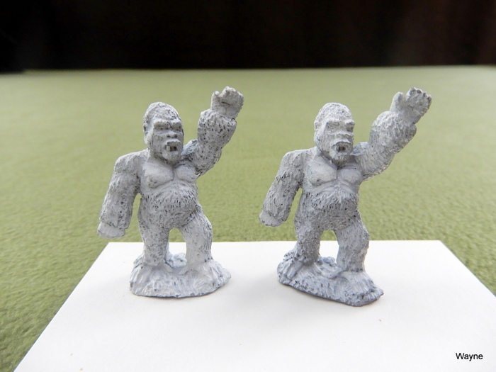 Image for GORILLAS: 2 Grenadier Gamma World miniatures