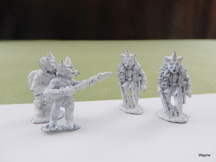 Image for IRON SOCIETY: 4 Grenadier Gamma World miniatures