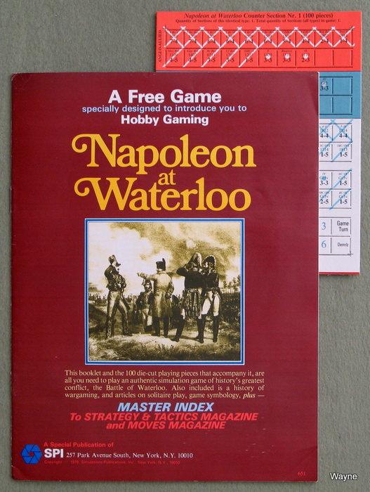 Image for Napoleon at Waterloo Game, with Master Index to S&T