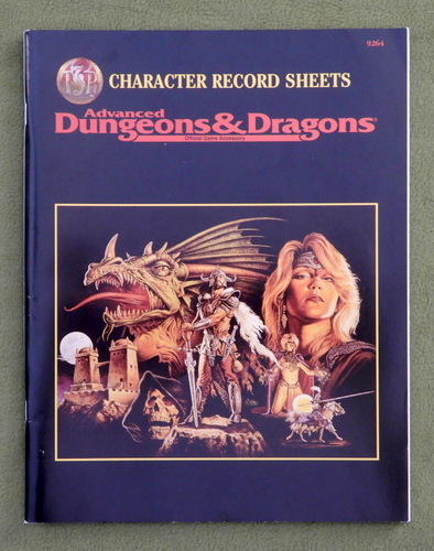Image for Character Record Sheets (Advanced Dungeons & Dragons, 2nd Edition Accessory REF2)