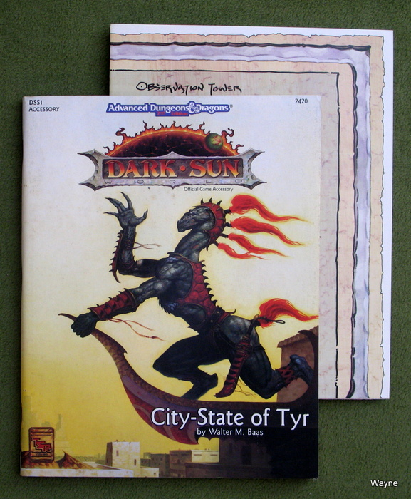 Image for City-State of Tyr (Advanced Dungeons & Dragons / Dark Sun Accessory DSS1)