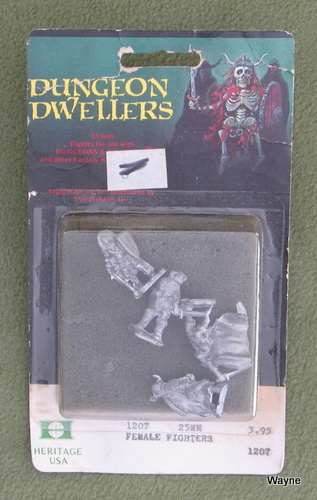 Image for Female Fighters (25mm Metal Miniatures: Dungeon Dwellers)