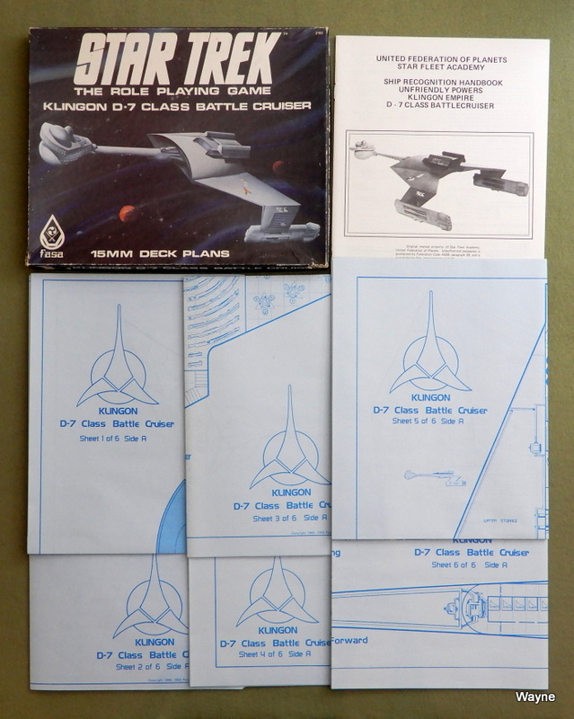 Image for Klingon D-7 Class Battle Cruiser: 15mm Deck Plans (Star Trek: The Role Playing Game)