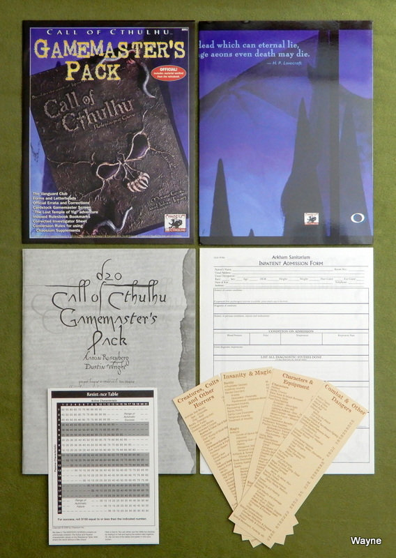 Image for Call of Cthulhu Gamemasters Pack (Call of Cthulhu d20 Horror Roleplaying)