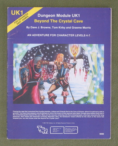 Image for Beyond the Crystal Cave (Advanced Dungeons & Dragons Module UK1)