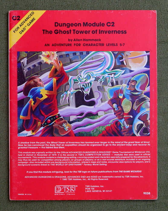 Image for The Ghost Tower of Inverness (Advanced Dungeons & Dragons module C2)