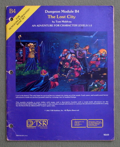 Image for The Lost City (Dungeons and Dragons module B4) - PLAY COPY