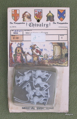 Image for Men-at-Arms w Spears (25mm Metal Miniatures: Chivalry Der Kriegspielers)