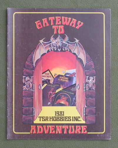 Image for Gateway to Adventure (TSR 1981 Catalog / Catalogue) - 2ND PRINT