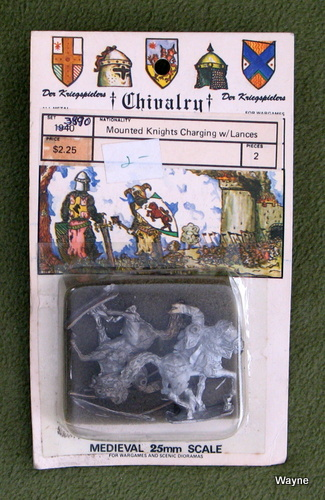 Image for Mounted Knights Charging w Lances (25mm Metal Miniatures: Chivalry Der Kriegspielers)