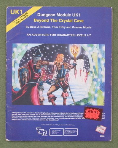 Image for Beyond the Crystal Cave (AD&D Module UK1) - PLAY COPY