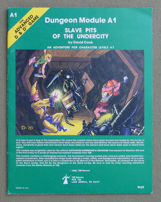 Image for Slave Pits of the Undercity (Advanced Dungeons & Dragons/AD&D Module A1) - 1ST PRINT