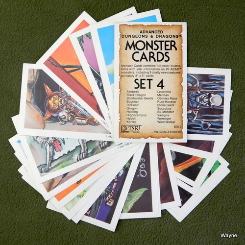 Image for Monster Cards, Set 4 (Advanced Dungeons and Dragons)