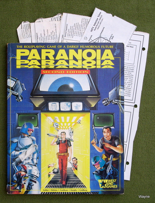 Image for Paranoia: The Roleplaying Game of a Darkly Humorous Future (2nd Edition) - HANDOUTS CUT