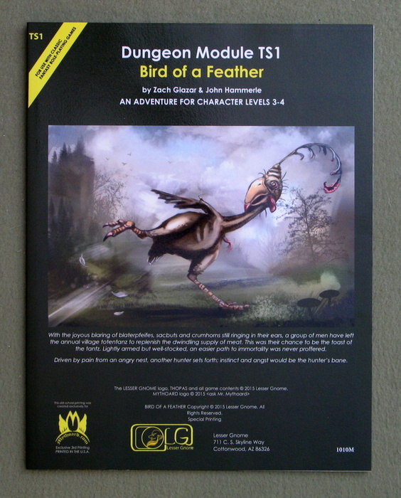 Image for Bird of a Feather (Dungeon Module TS1)