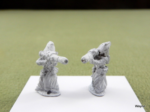 Image for HOODED CRYPTIC ALLIANCE w BLASTER RIFLES: 2 Grenadier Gamma World miniatures