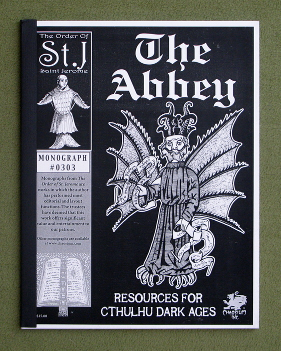 Image for The Abbey: Resources for Cthulhu Dark Ages (Call of Cthulhu Monograph #0303)