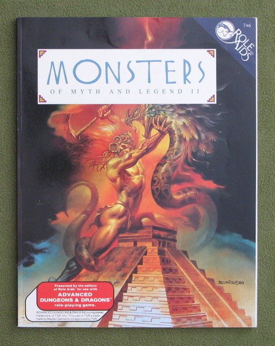 Image for Monsters of Myth and Legend II (Role Aids)