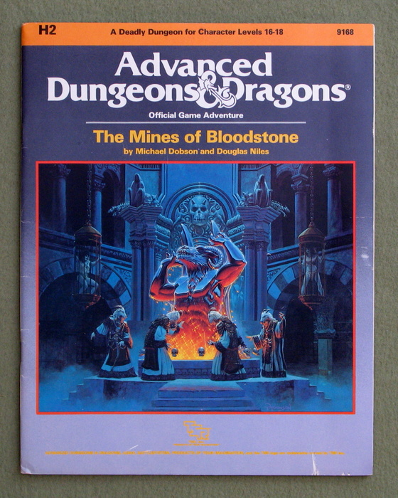 Image for The Mines of Bloodstone (Advanced Dungeons and Dragons Module H2)