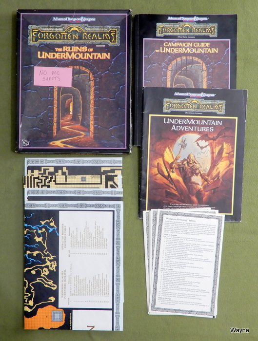 Image for Ruins of Undermountain (AD&D Forgotten Realms) - NO MC SHEETS