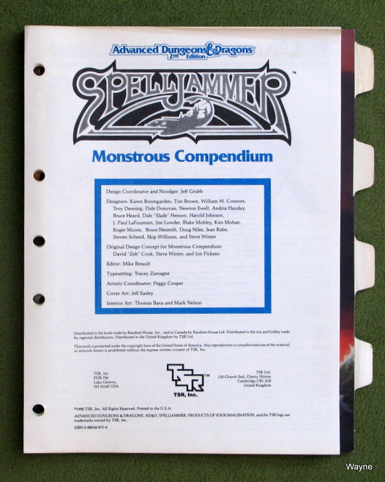 Image for Monstrous Compendium Appendix (Advanced Dungeons & Dragons/Spelljammer Accessory MC7) - NO FOLDER