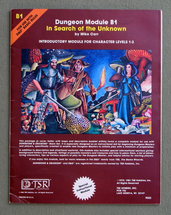 Image for In Search of the Unknown (Dungeons & Dragons Module B1) - PENCIL