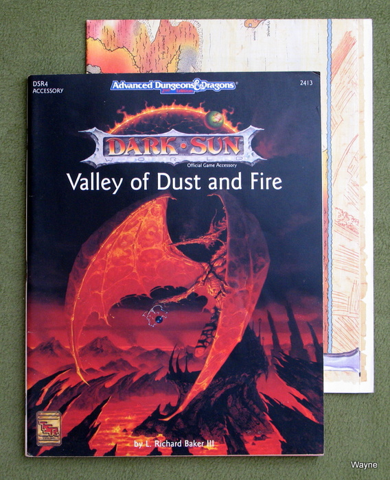 Image for Valley of Dust and Fire (Advanced Dungeons & Dragons / Dark Sun Accessory DSR4)