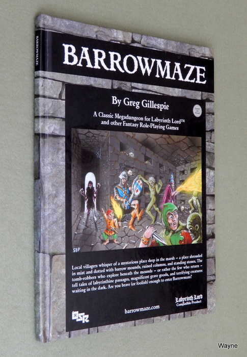 Image for Barrowmaze I: A Classic Megadungeon for Labyrinth Lord and other Fantasy Roleplaying Games