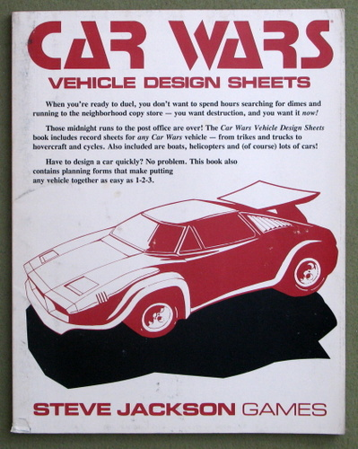 Image for Car Wars Vehicle Design Sheets