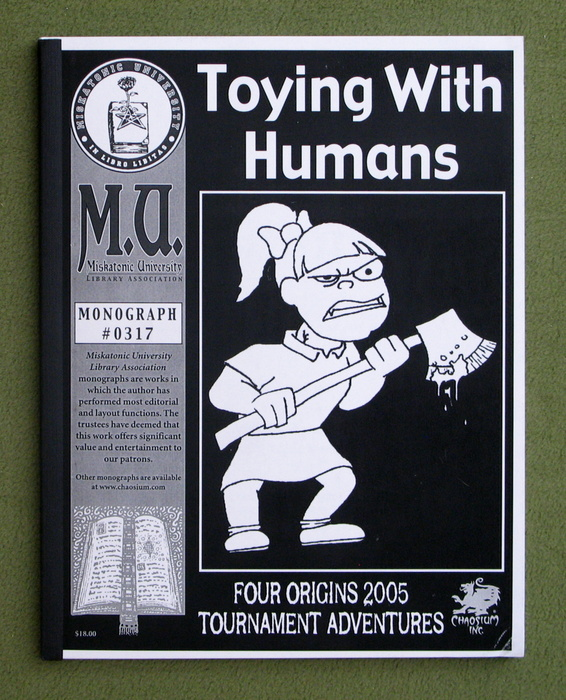 Image for Toying With Humans: Four Origins 2005 tournament adventures (Call of Cthulhu Monograph #0317)