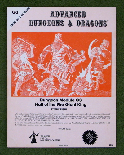 Image for Hall of the Fire Giant King (AD&D Module G3) - 2ND PRINT