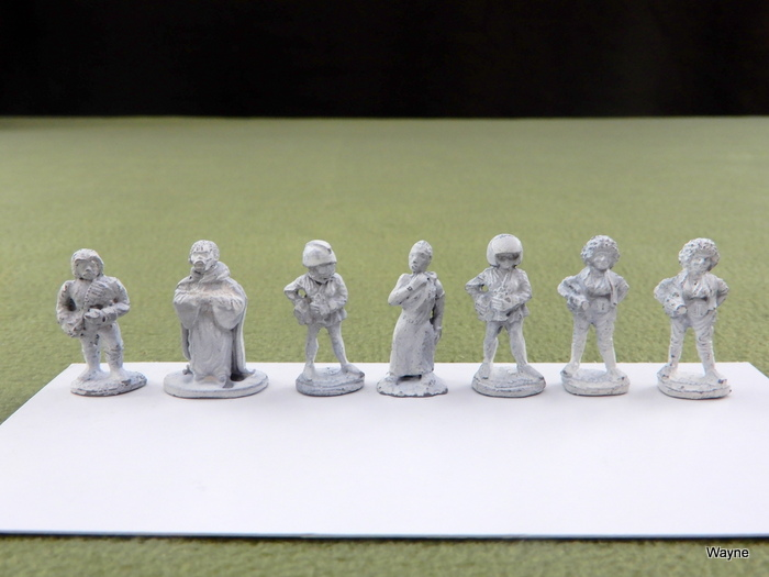 Image for HUMANS: 7 Grenadier Gamma World miniatures