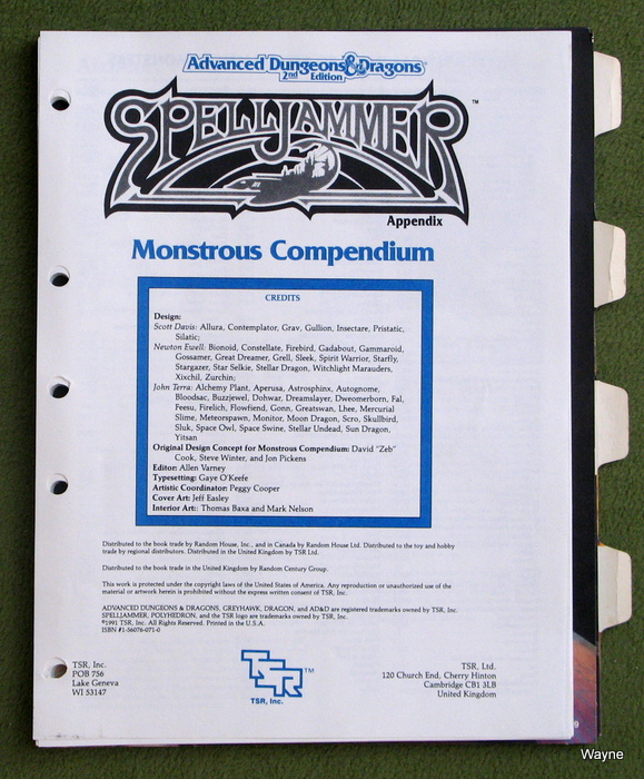 Image for Monstrous Compendium: Spelljammer Appendix MC9 (Advanced Dungeons & Dragons, 2nd Edition