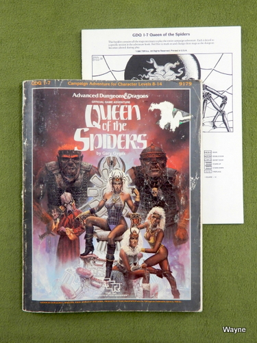 Image for Queen of the Spiders (AD&D GDQ1-7) - WORN PLAY COPY