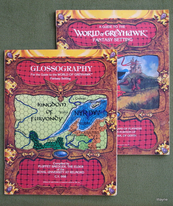 Image for Guide to the World of Greyhawk Fantasy Setting AND Glossography [2-book set] - PLAY SET