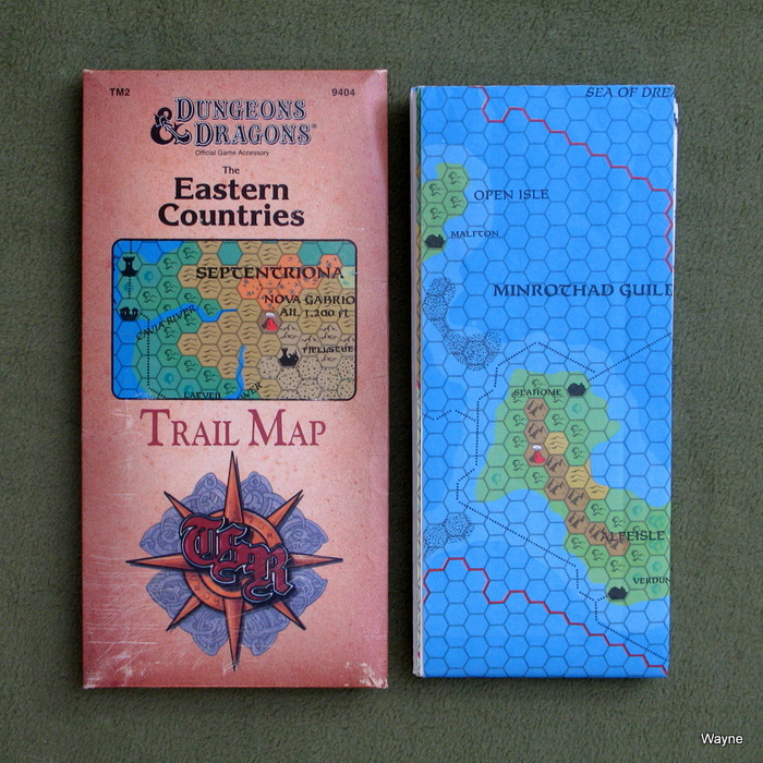 Image for The Eastern Countries Trail Map (Dungeons & Dragons Accessory TM2)