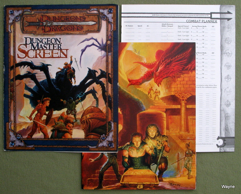 dungeon master s screen dungeons dragons 3rd edition d20 system
