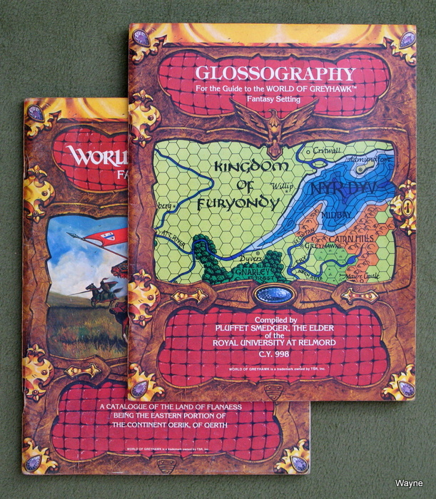 Image for Guide to the World of Greyhawk Fantasy Setting AND Glossography [2-book set]
