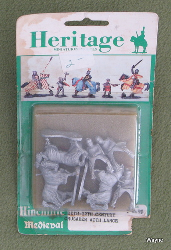 Image for 11th-12th Century Crusader with Lance (25mm Metal Miniatures: Heritage Hinchliffe Medieval)