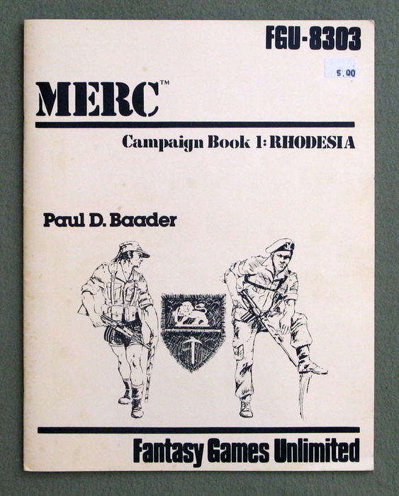 Image for MERC: Campaign Book One: Rhodesia