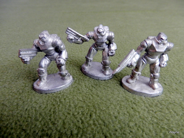 Image for Three (3) Living Steel 7 Swords Heavy Power Armor Miniatures