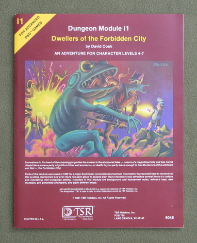 Image for Dwellers of the Forbidden City (Advanced Dungeons & Dragons module I1)