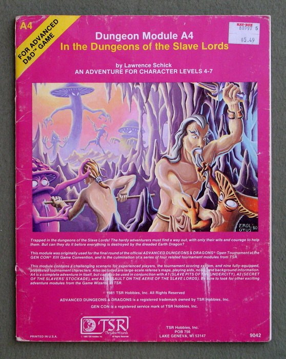 Image for In the Dungeons of the Slave Lords (Advanced Dungeons & Dragons module A4) - PLAY COPY