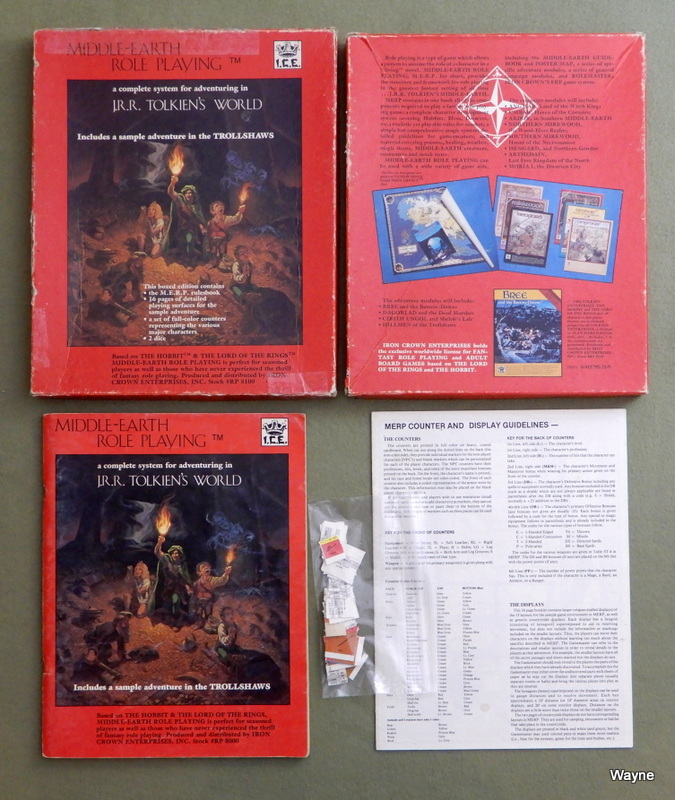 Image for Middle-Earth Role Playing (MERP, 1st edition) - PLAY SET