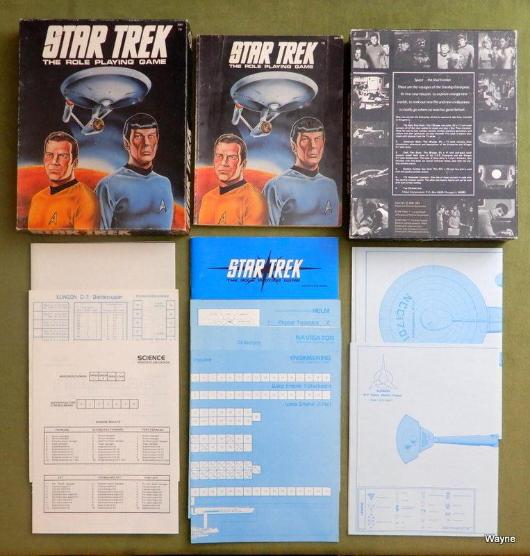Image for Star Trek: The Role Playing Game (1st Edition) - NO COUNTERS - PLAY SET