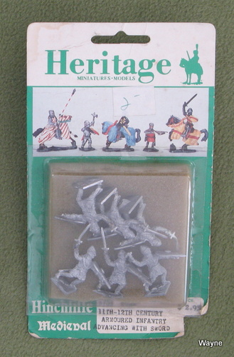 Image for 11th-12th Century Armoured Infantry Advancing with Sword (25mm Metal Miniatures: Heritage Hinchliffe Medieval)