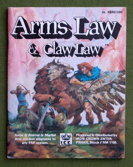 Image for Arms Law and Claw Law (Rolemaster)